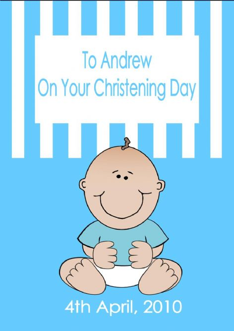 Personalised Boy Christening Card Design 3